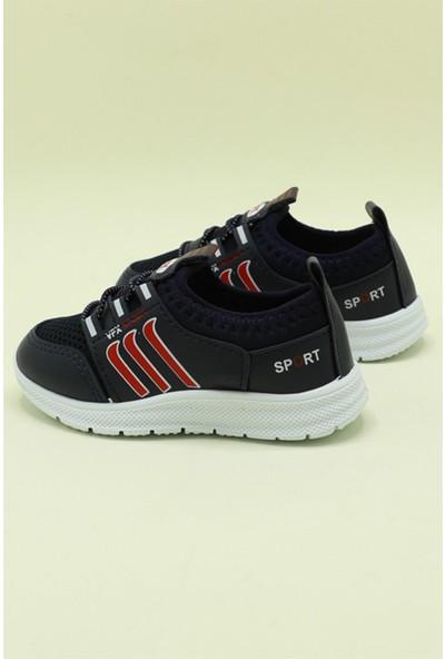 Bolimex Günlük Nefes Alır Lacivert Çocuk Spor Ayakkabı 3370