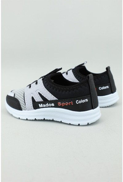 Bolimex Günlük Siyah Gri Çocuk Spor Ayakkabı 3355