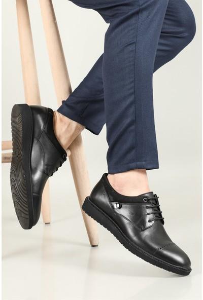 Berenni Günlük Deri Siyah Erkek Ayakkabı 678