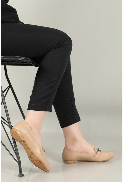 Carla Bella Günlük Tokalı Nut Kadın Ayakkabı 242