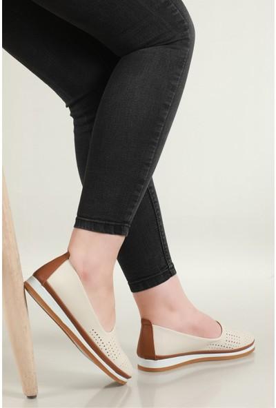 Carla Bella Günlük Rahat Krem Kadın Ayakkabı C-1320