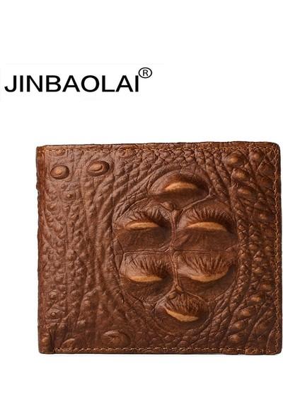 Jinbaolai Vintage Deri Cüzdan (Yurt Dışından)