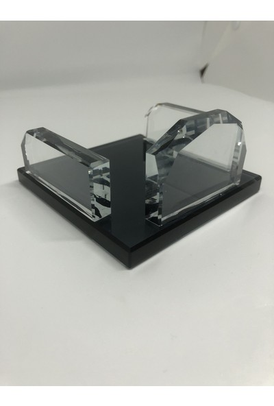 Gündoğan Kristal Cam Not Kağıtlık Tutacağı