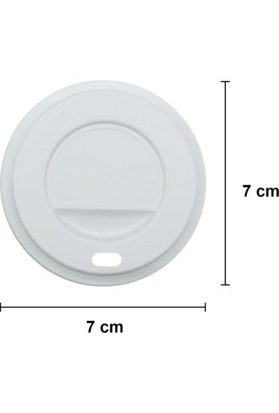 Aygün Cup 5 Oz Beyaz Kapaklı Karton Bardak 160 ml - 100'LÜ (Otomat Bardak)
