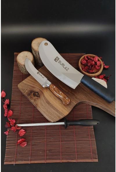 Sürlaz Sürmene Soğan, Ezme Satırı, Mutfak Bıçağı Dilimleme, Doğrama+ Masat