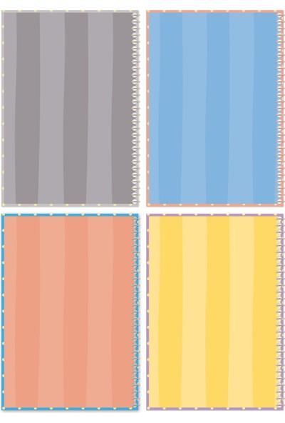Le Color Puantiyeli 2 Düz Kum Mercan 2 Noktalı Mavi Mor Defter