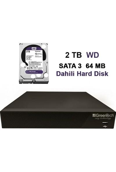 Greentech GT-NVR09 Dahili 2tb Hafıza H265 9 Kanal 5mp Ip Kayıt Cihazı