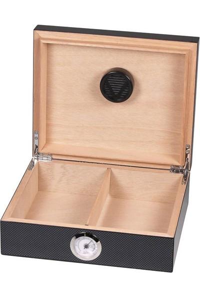 Angelo Cigar German Basic Humidor Karbon 25's Kutu