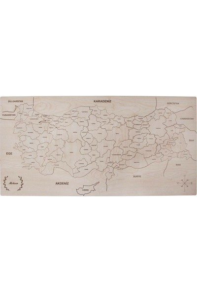 Panama Doğal Türkiye Haritası Puzzle 35*70 cm