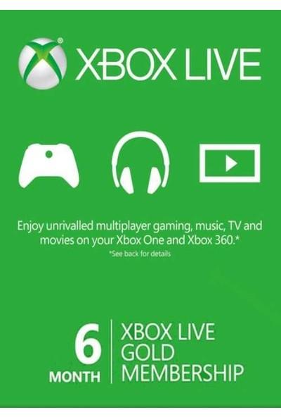 Xbox Lıve Gold 6 Ay Üyelik Kodu (Global Code)