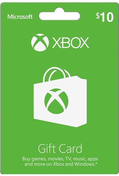 Xbox Live Gift Card 10 USD / 10 DOLAR (US) United States