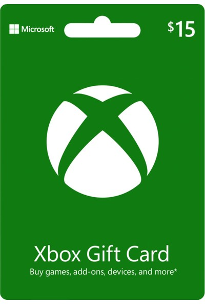 Xbox Live Gift Card 15 USD / 15 DOLAR (US) United States