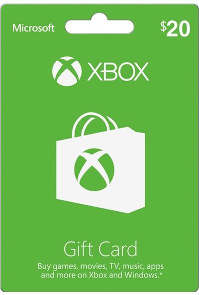 Xbox Live Gift Card 20 USD / 20 DOLAR (US) United States