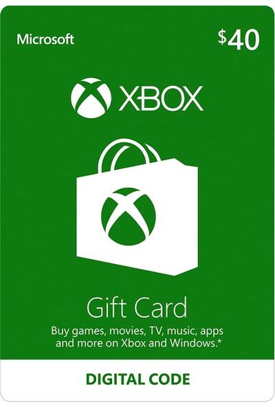Xbox Live Gift Card 40 USD / 40 DOLAR (US) United States