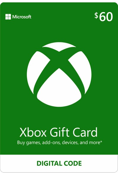 Xbox Live Gift Card 60 USD / 60 DOLAR (US) United States
