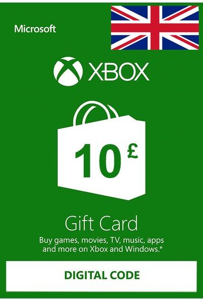 Xbox Live Gift Card 10 GBP / 10 POUND (UK) United Kingdom