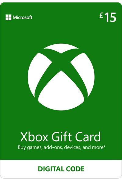 Xbox Live Gift Card 15 GBP / 15 POUND (UK) United Kingdom