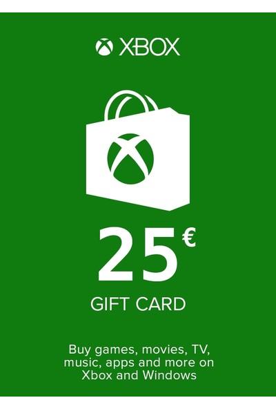 Microsoft Studios Xbox Live Gift Card 25 Eur (De) Germany
