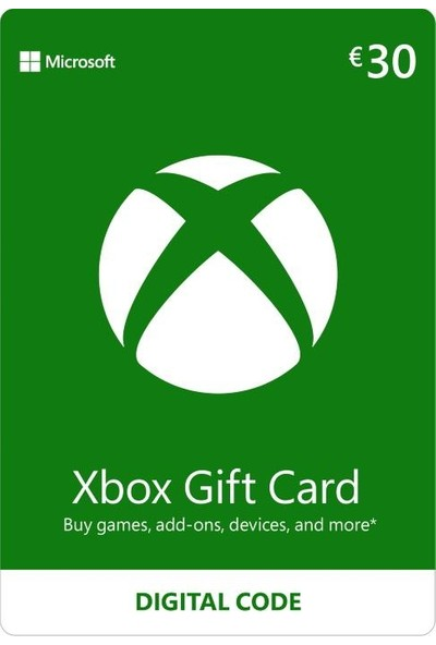Xbox Live Gift Card 30 EUR (De) Germany