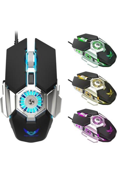 J-Tech Hurricane Rgb Işıklı Fanlı Ayalarlanabilir Gaming Oyuncu Mouse J-50