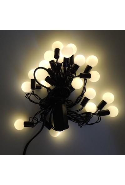 Misket Yılbaşı Ağaç Bahçe Ip Süs Aydınlatma 20 LED Işık 3m 3 Renk