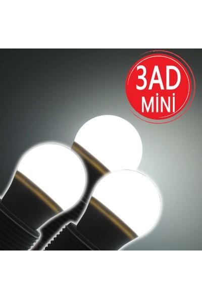 Sunlight Mini Tasarruflu LED Ampul 5 W Beyaz Işık E27 3 Adet