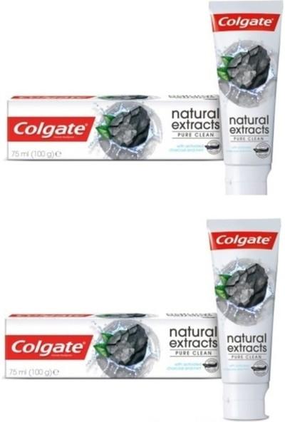 Colgate Diş Macunu Aktif Kömür Karbon ve Nane Yağı Saf Temizlik Natural Extracts 75 ml x 2 Adet