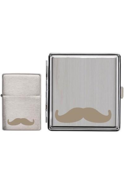 Bek Tobacco Atomic German Çakmak ve Tabaka Seti Krom Mustache Baba