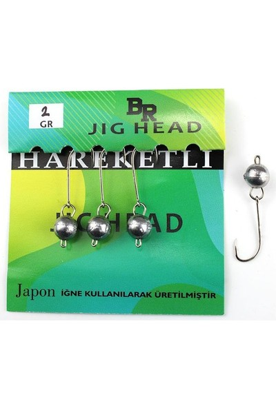 Bera Jig Head Hareketli 2 gr 4 Lü Paket
