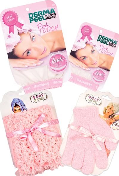 Dermapeel Pink 4'lü Banyo Seti