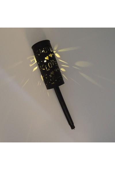 Sunlight Love Güneş Enerjili Solar LED Bahçe Aydınlatma Lambası Saplamalı