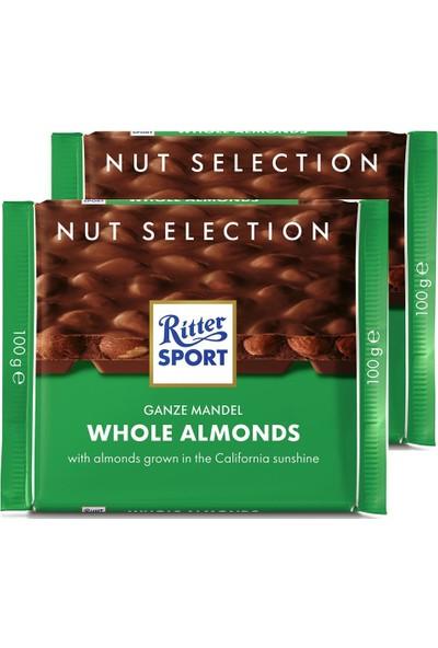 Ritter Whole Almonds 100 G x 2