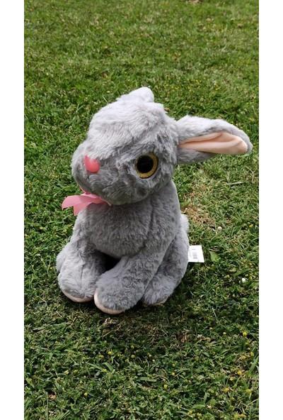 Üstün Oyuncak Peluş Oyuncak Oturan Tavşan Gri 30 cm