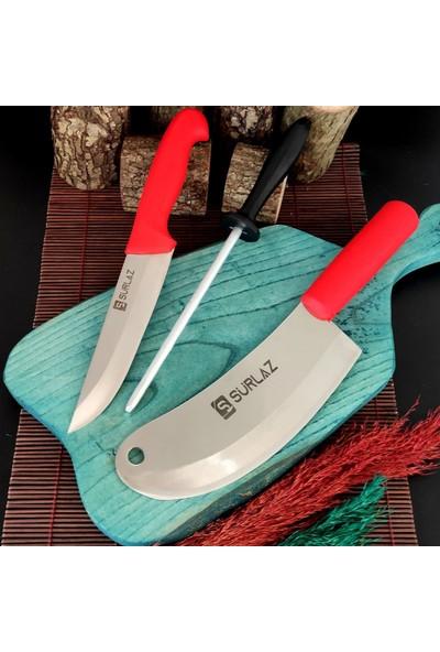SürLaz 3 Parça Kokoreç Bıçak Seti Reds Serisi