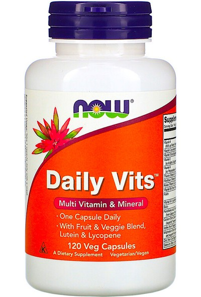 Now Foods, Daily Vits, Multi Vitamin & Mineral, 120 Veg Capsules