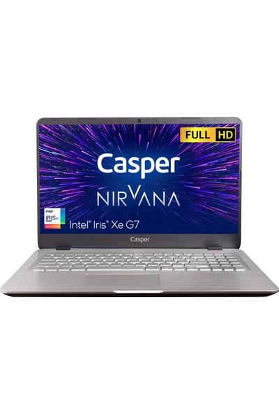 """Casper Nirvana S500.1135-8L00T-G-F Intel Core I5 1135G7 8GB 500GB Windows 10 Home 15.6"""" FHD Taşınabilir Bilgisayar"""