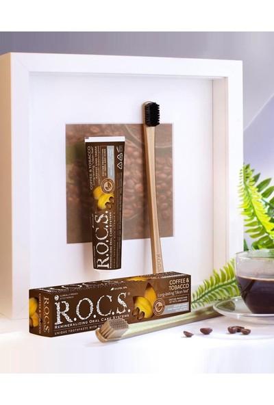 Rocs R.o.c.s. Cofee&tobacco Lekelere Karşı Diş Macunu ve 2 Adet Gold Edıtıon Diş Fırçası Seti