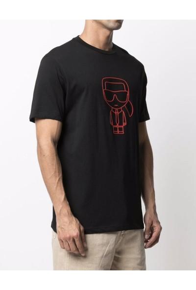 Karl Lagerfeld Logo-Print Cotton-Jersey T-Shirt