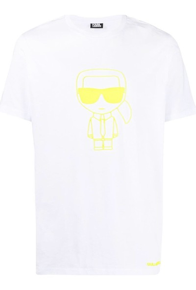 KARL LAGERFELD Neon Print ikonik T-Shirt