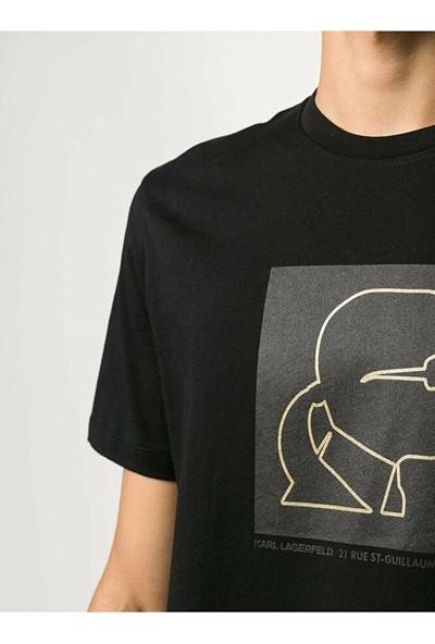 KARL LAGERFELD Outline Logo T-Shirt