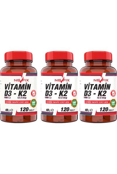 Nevfix Vitamin K2 & Vitamin D3 ( 3kutu 120 Tablet )