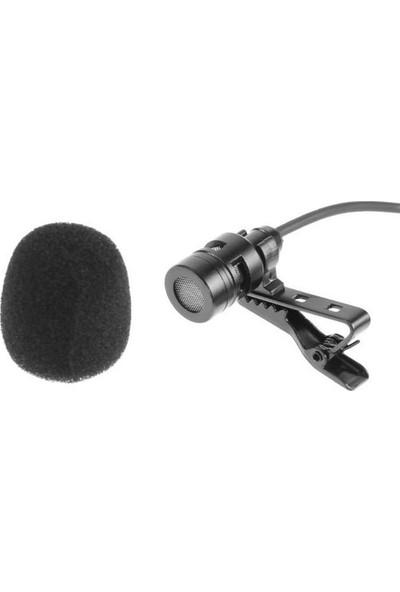 Blueway Çift Başlı Kondeser Youtuber Cep Telefonu Uyumlu 3.5mm Jak Yaka Mikrofonu-6 Metre
