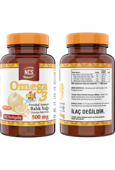 Nevfix Omega 3 Portakal Aromalı Çocuklar Için Balık Yağı 102 Softgel & Nevfix Vitamin D3-K2 120 Tablet