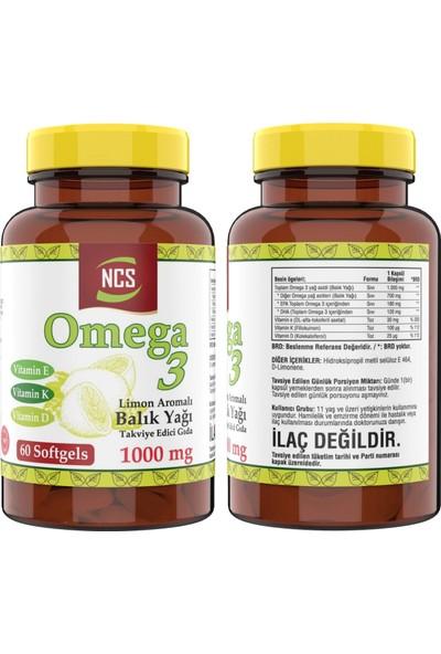 Nevfix Omega 3 Balık Yağı 1000 Mg 60 Yumuşak Kapsül Doğal Limon Aromalı & Nevfix Vitamin D3-K2 120 Tablet