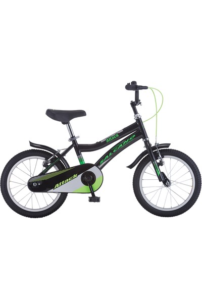 Salcano Attack 16 Jant Erkek Çocuk Bisikleti Siyah Yeşil