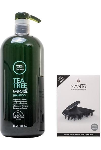 Paul Mitchell Tea Tree Special Şampuan 1000 ml + Manta Esnek Black/gold Saç Fırçası
