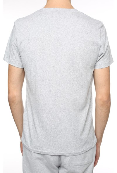 All Saints Gri Renk Pamuklu Yarım Kollu Erkek Tshirt