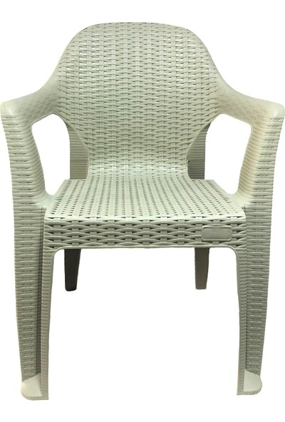 Romanoset Plastik Romanoset Polo Rattan Balkon ve Bahçe Sandalyesi 4 Lü Set