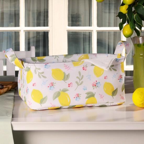 Favore Casa Limon Çok Amaçlı Sepet 30x23x13 cm Sarı