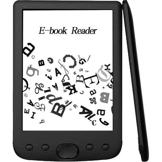 Gahome BK-6025 Taşınabilir E-Kitap Gahome Okuyucu 16GB E-Mürekkep Siyah (Yurt Dışı)